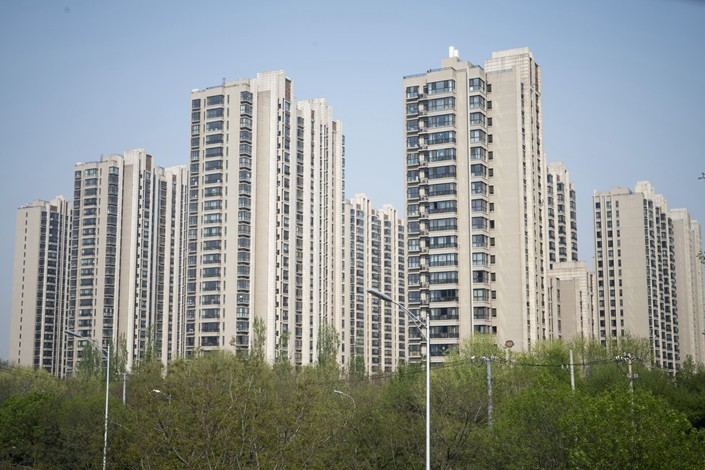 Residential buildings stand in the Taiyanggong area of Beijing. Photo: Bloomberg