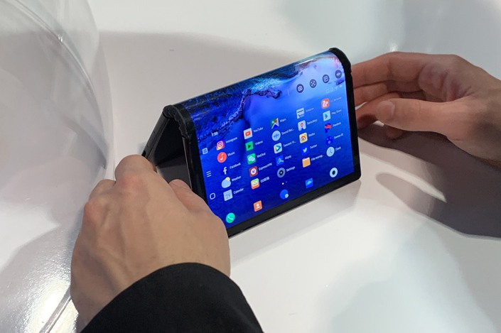 The FlexPai debuts at the Consumer Electronics Show in Las Vegas on Jan. 8, 2019.