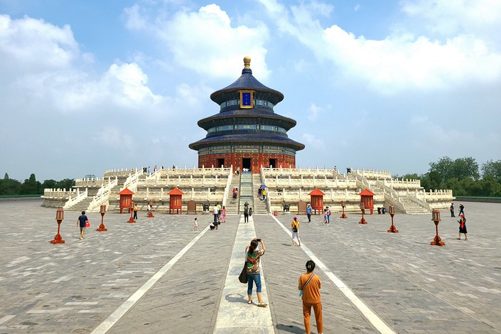 Beijing's Temple of Heaven in July.