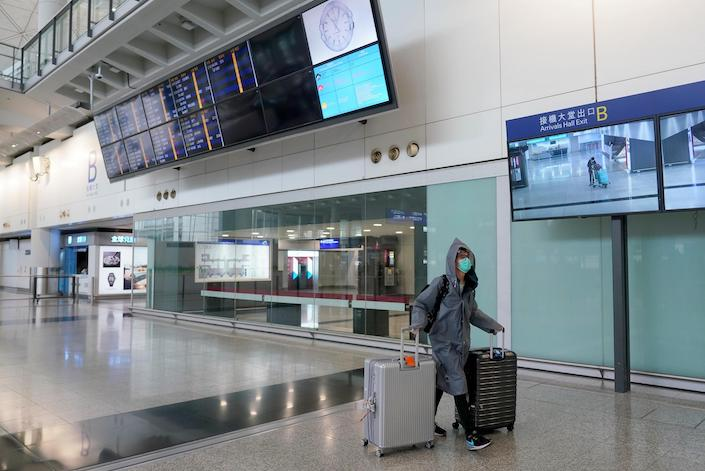 Traffic at Hong Kong International Airport in June fell 99.1% to 59,000 passengers from a year ago