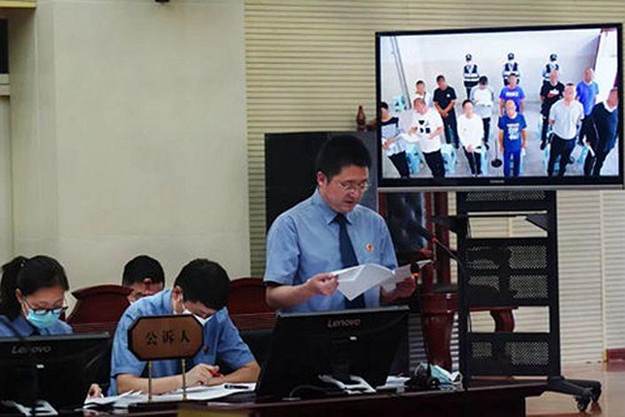 On Monday, prosecutors accused Sun Hengchao of deliberate wrongdoing to raise money through acceptance bills. Photo: Yinchuan Intermediate People's Court