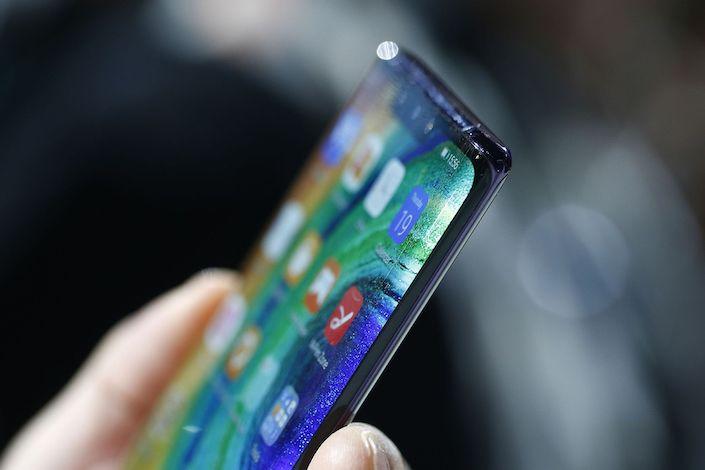 Huawei Technologies Co. Mate 30 smartphone.