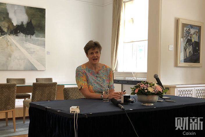 Barbara Woodward. Photo: Li Yi/Caixin