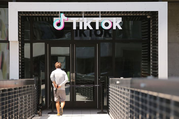 TikTok's office in Culver City, California on Aug. 27.