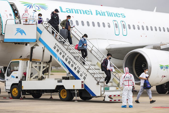 The new rule change ends a measure imposed in March, which limited all international flights to a 75% occupancy rate as part of measures to curb the spread of the virus.