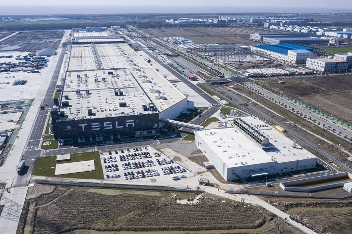 The Tesla Gigafactory in Shanghai. Photo: Bloomberg