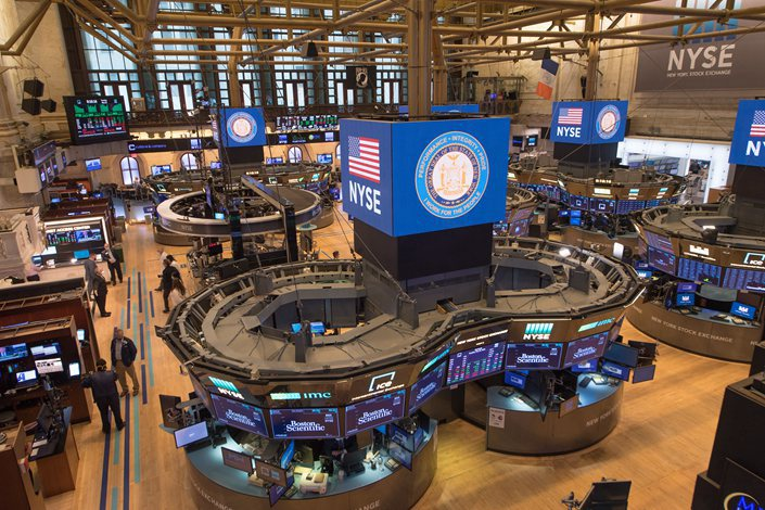 The floor of the New York Stock Exchange on May 26.