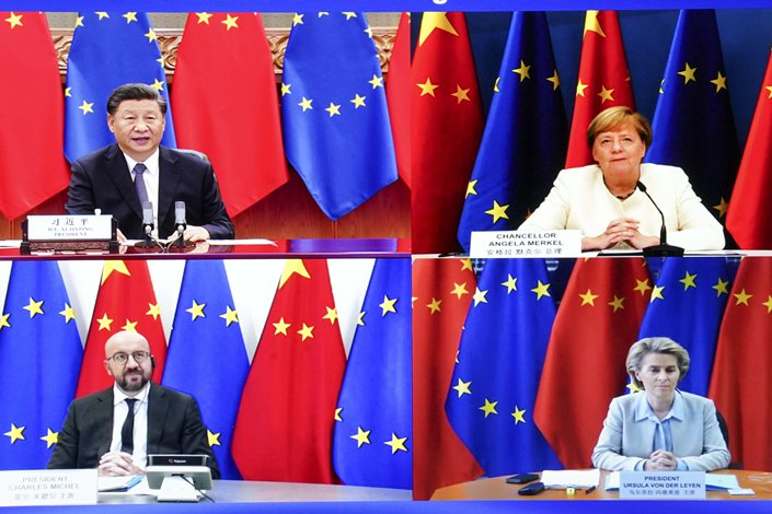 President Xi Jinping co-hosts a China-EU summit with European leaders on Monday. Photo: Xinhua
