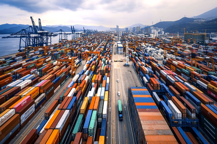 The Yantian International Container Terminal in Shenzhen in Aug. 22.