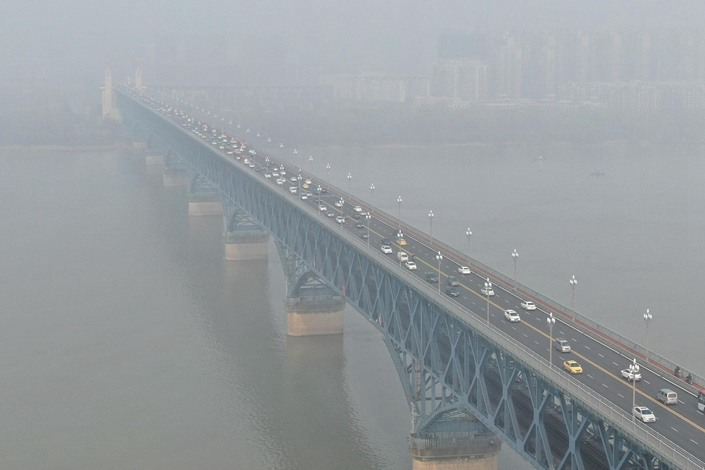 """While the report said last year's efforts to improve air quality in Chinese cities """"generally maintained the momentum of the previous six years,"""" it added that """"the scale of improvement notably fell, and some cities experienced rebounds."""""""