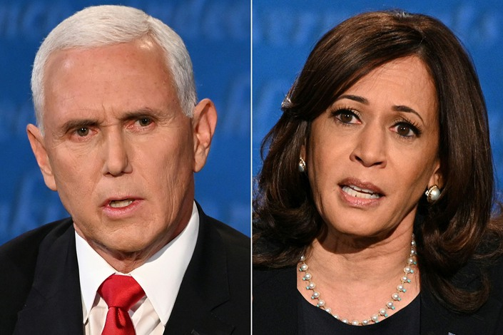 U.S. Vice President Mike Pence (left), and Democratic vice presidential candidate Senator Kamala Harris.