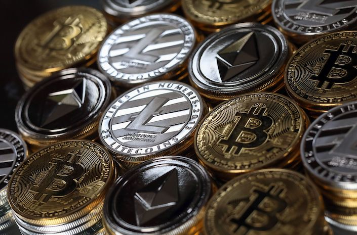 A collection of digital currency.