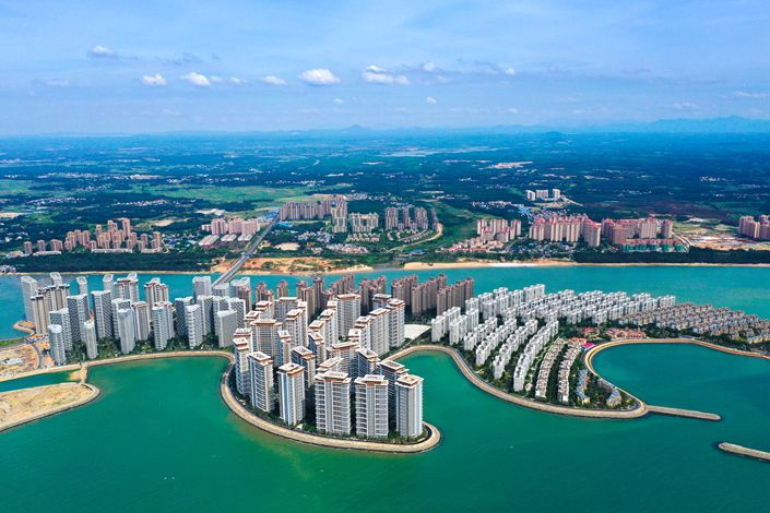 Aerial photos show the Ocean Flower Island, South China's Hainan province, July 16. Photo: IC Photo