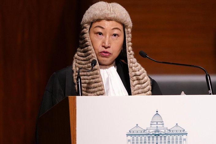 Hong Kong Secretary for Justice Teresa Cheng.