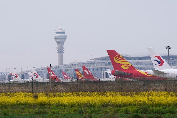 The six largest listed airline companies in China reported a combined net loss of 42.9 billion yuan ($6.4 billion) for the first nine months this year