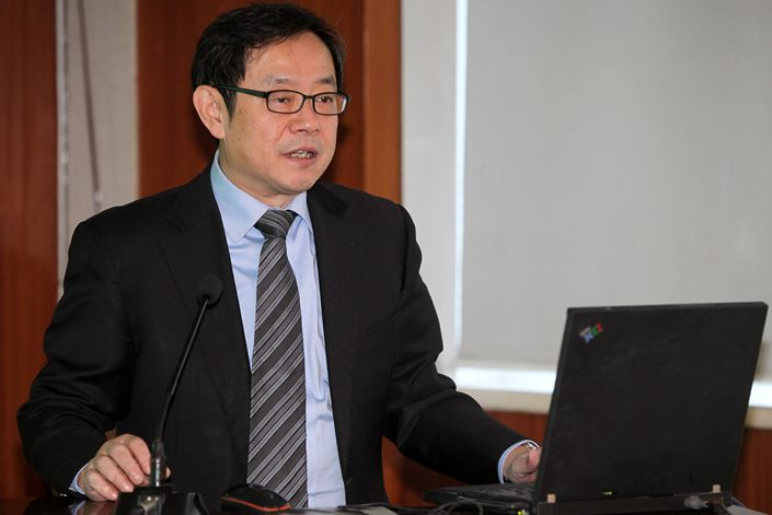 Feng Zijian, deputy director of the Chinese Center for Disease Control and Prevention.