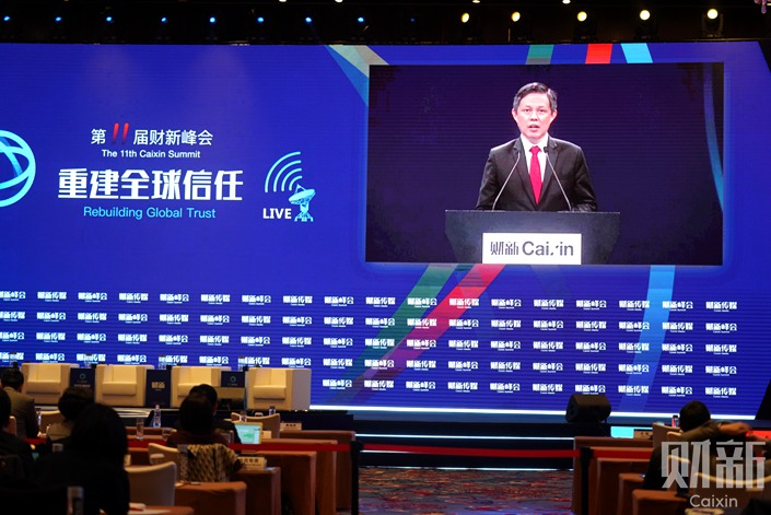 Singapore's Minister for Trade and Industry Chan Chun Sing. Photo: Caixin
