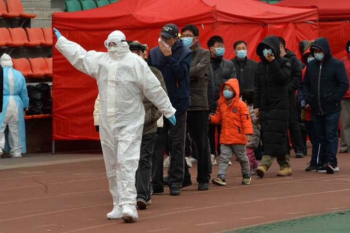 Mass testing is carried out in Tianjin's Binhai New Area on Nov. 21.
