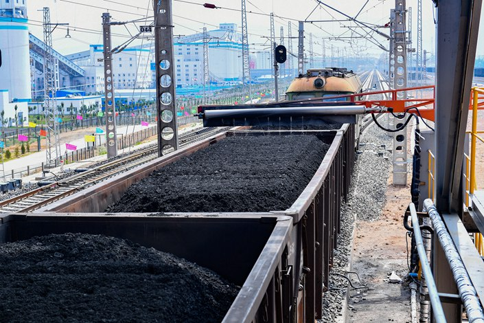 Coal supplied 57.7% of the China's energy last year, down from a peak of 67.4% in 2013.