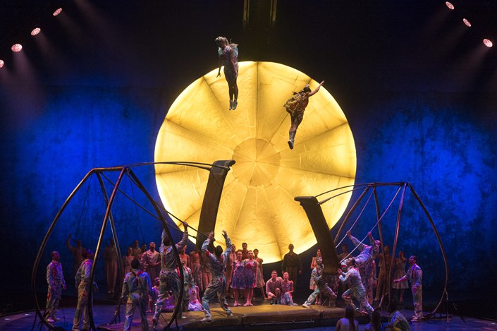 Performers take part in a dress rehearsal of Cirque Du Soleil's Luzia Show show at the Royal Albert Hall in London on Jan. 11. Photo: IC Photo