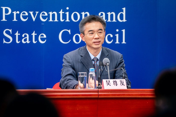 Wu Zunyou, chief epidemiologist at the China Center for Disease Control and Prevention.