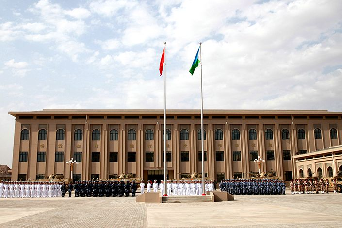 The Chinese People's Liberation Army support base in Djibouti.