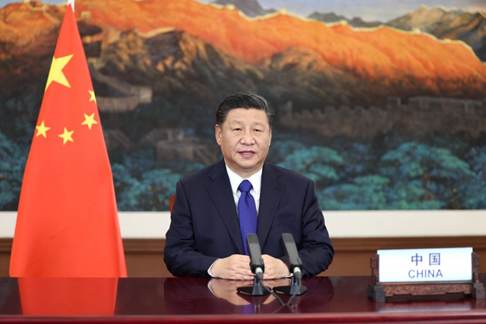 Chinese President Xi Jinping touted Beijing's