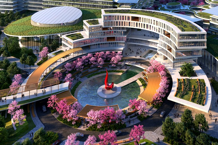 An artist rendition of the planned Guangzhou campus of the Hong Kong University of Science and Technology. Photo: The Hong Kong University of Science and Technology