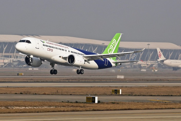 The C919 targets the same market as the Airbus A320 and Boeing 737, the two best-selling commercial aircraft.