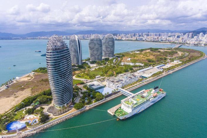 The Phoenix Island International Cruise Terminal in Sanya, South China's Hainan province.