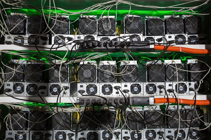 Ccryptocurrency mining hardware. Photo: Bloomberg