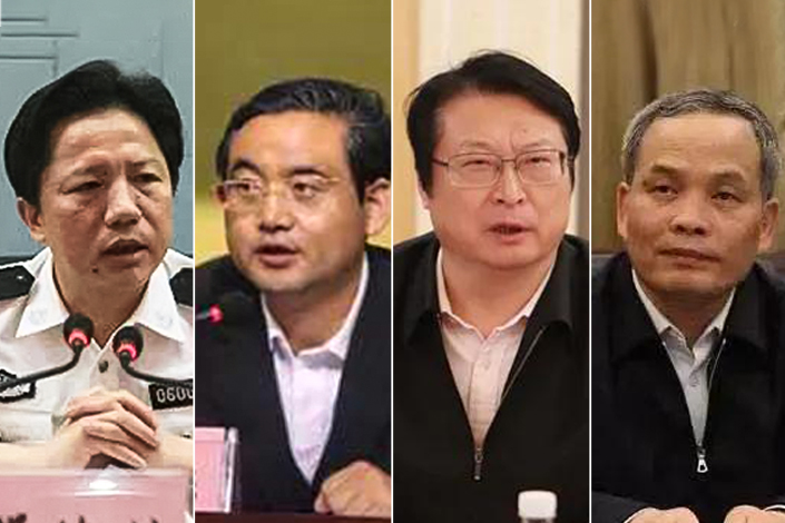 From left: Deng Huilin, Wen Guodong, Hu Wenming and Luo Jiamang. Photo: Central Commission for Discipline Inspection