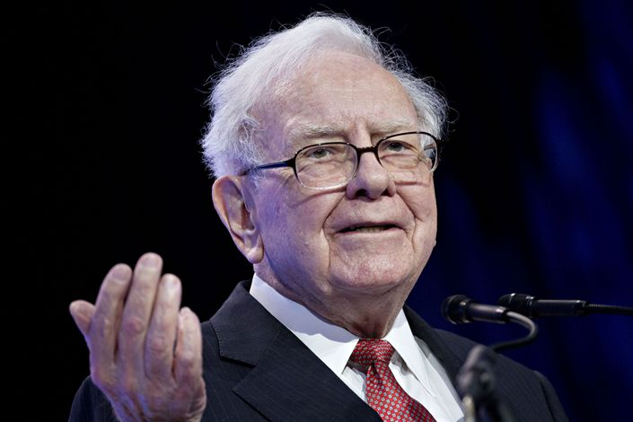 Warren Buffett, chairman and CEO of Berkshire Hathaway, speaks at the Goldman Sachs 10,000 Small Businesses Summit in Washington, D.C., on Feb. 13, 2018.  Photo: Bloomberg