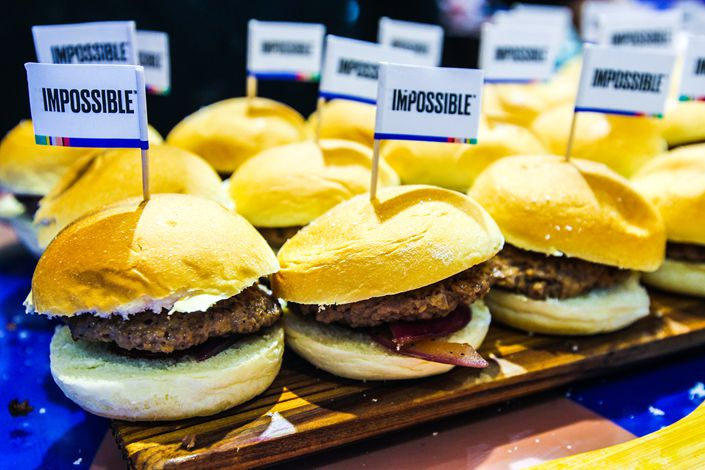 Impossible Foods' meatless burger patties and sausages are made using heme, which is derived from genetically modified yeast and gives the products their meat-like flavor, but requires regulatory approval in China.