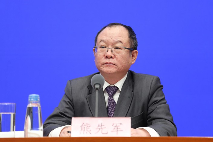 Xiong Xianjun, head of the National Healthcare Security Administration's medical service administration office.