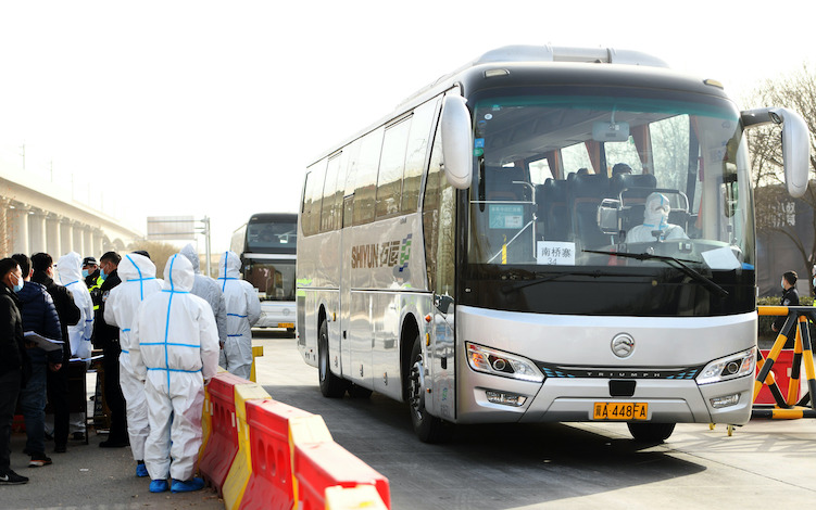About 20,000 villagers in Zengcun were transported by bus to a quarantine location.