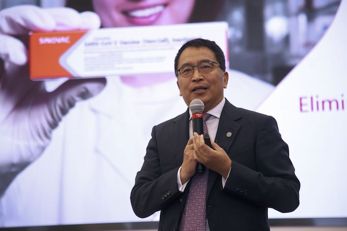 China Vaccine's Low Efficacy Reflects High-Risk Group, Sinovac CEO Says -  Caixin Global