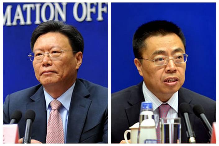 Yu Jianhua(left), Zhang Xiangchen