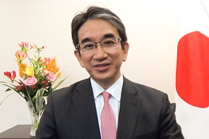 Japan's new Ambassador to China Hideo Tarumi. Photo: Embassy of Japan in China