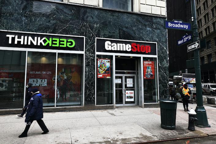 A GameStop store Jan. 27, 2021, in midtown Manhattan, New York City.