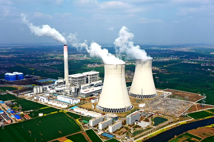 A coal-fired power plant operating on March 28 in Bozhou, East China's Anhui province. Photo: VCG