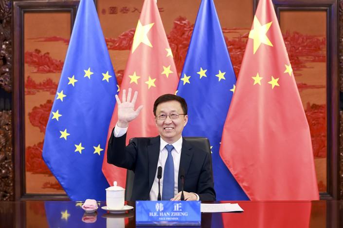 Chinese Vice Premier Han Zheng. Photo: Xinhua