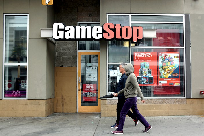 A GameStop store in Los Angeles on Jan. 27. Photo: VCG