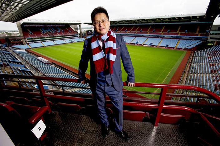 Xia Jiantong, who also goes by Tony Xie, closed the deal to buy the U.K.'s Aston Villa Football Club on June 15, 2016. Photo: VCG