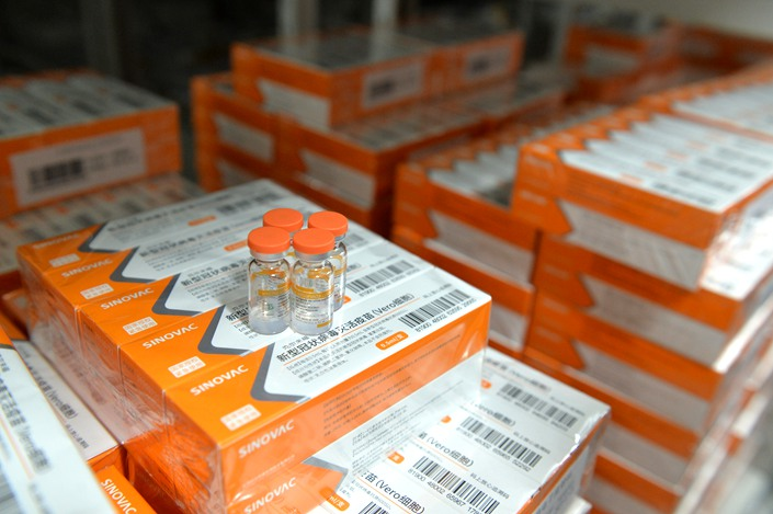 Vaccines are stored in a Sinovac facility in Beijing on Jan. 12. Photo: VCG