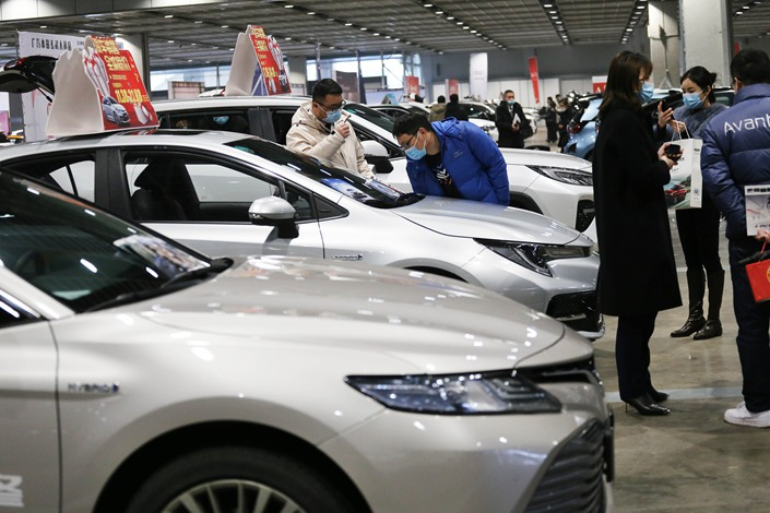 The China Association of Automobile Manufacturers reports passenger vehicle sales rose 26.8% in January, as the industry benefitted from a quirk due to the timing of the Lunar New Year. Photo: VCG