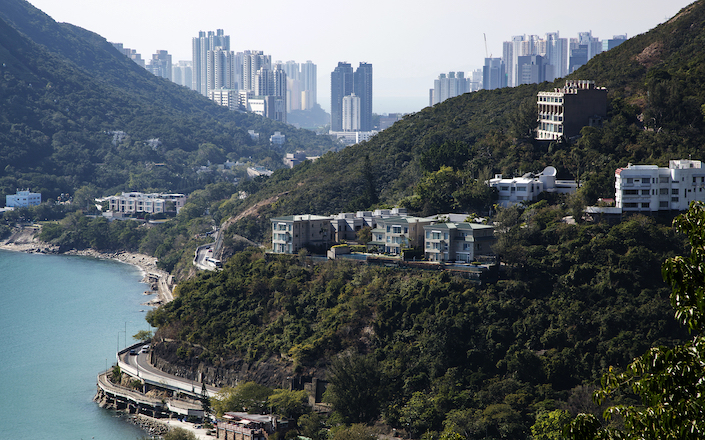 Residential houses stand in the Shouson Hill area of Hong Kong