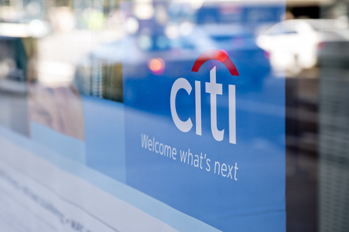 Signage is displayed in the window of a Citibank branch in Chicago, Illinois, U.S., on Oct. 12, 2019. Photo: Bloomberg