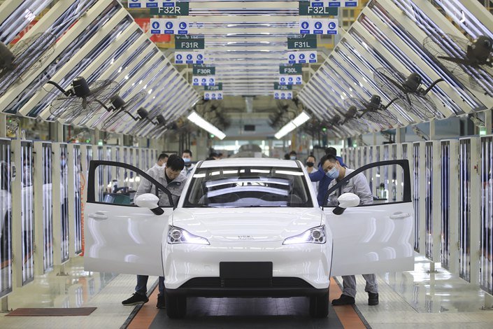Shanghai's 50% goal far outstrips the national target of having new-energy vehicles make up 20% of new car sales by 2025. Photo: VCG