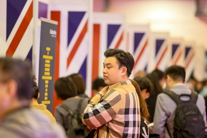 The number of Chinese students looking to study at British universities is growing, while demand for places at U.S. or Australian colleges appears to be weakening. Photo: VCG